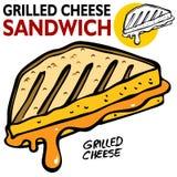 сандвич зажженный сыром иллюстрация штока