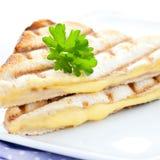сандвич зажженный сыром стоковые фотографии rf