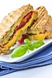 сандвич зажженный сыром стоковая фотография