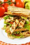 сандвич зажженный цыпленком Стоковое фото RF