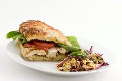 сандвич зажженный цыпленком Стоковые Фото