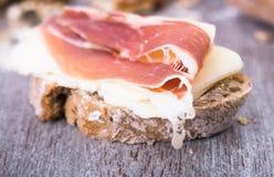 сандвич изображения ветчины еды сыра Стоковые Изображения