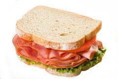 сандвич изолированный ветчиной Стоковые Изображения