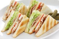 сандвич клуба клуба Стоковые Изображения