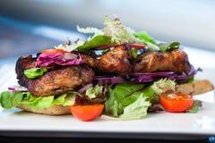 Сандвич клуба с багетами Стоковые Фото