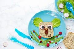 Сандвич коалы - творческая идея для детей обедает Стоковое фото RF