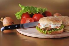 сандвич котлеты стоковое изображение rf