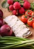 сандвич коттеджа сыра Стоковое Фото