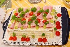 сандвич наслоенный тортом Стоковое Изображение RF
