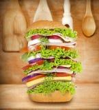 Сандвич очень большой Стоковые Изображения RF