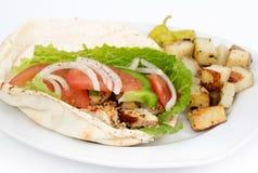 Сандвич пита цыпленка Стоковые Изображения RF