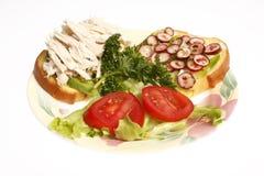 сандвич половины цыпленка Стоковые Изображения RF