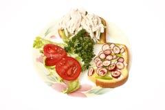 сандвич половины цыпленка Стоковое фото RF