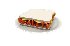 сандвич реальности иллюстрация штока