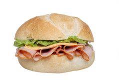 сандвич салата ветчины крупного плана сыра Стоковая Фотография
