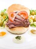 сандвич салата жаркого говядины Стоковые Фотографии RF