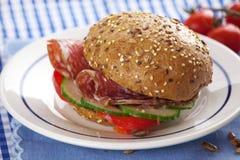 сандвич салями гастронома Стоковое Фото