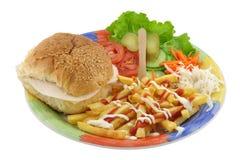 сандвич салями Стоковое Изображение RF