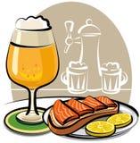 сандвич семг пива бесплатная иллюстрация