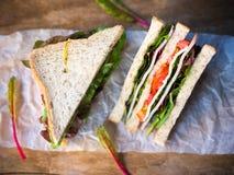 Сандвич сыра ветчины для завтрака Стоковое Изображение RF