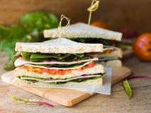 Сандвич сыра ветчины для завтрака Стоковая Фотография