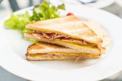 Сандвич сыра ветчины Стоковое Изображение RF