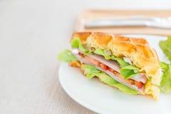сандвич сыра ветчины waffle Стоковое Изображение RF