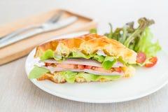сандвич сыра ветчины waffle Стоковая Фотография RF