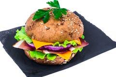 Сандвич с всеми хлебом зерна и ветчиной Пармы Стоковое Изображение
