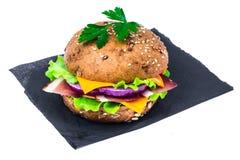 Сандвич с всеми хлебом зерна и ветчиной Пармы Стоковые Изображения RF