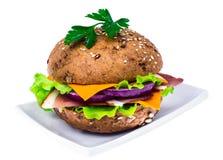 Сандвич с всеми хлебом зерна и ветчиной Пармы Стоковые Фото