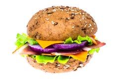 Сандвич с всеми хлебом зерна и ветчиной Пармы Стоковые Изображения