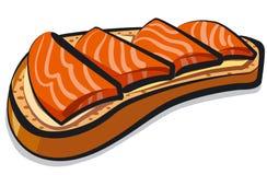 Сандвич с семгами Стоковое Изображение