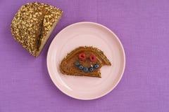 Сандвич с улыбкой Стоковое Фото