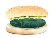 Сандвич с электронным бургером, синтетической концепцией мяса бесплатная иллюстрация