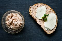 Сандвич тунца стоковое изображение