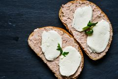 Сандвич тунца Стоковые Фотографии RF