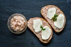 Сандвич тунца стоковые изображения rf
