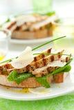 сандвич цыпленка цезаря Стоковое Изображение RF