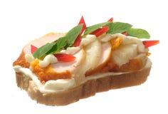 сандвич цыпленка Стоковые Фотографии RF