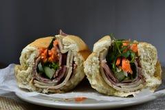 Сандвич Banh mi въетнамская еда стоковые фотографии rf