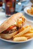 сандвич cheesesteak Стоковое Изображение RF