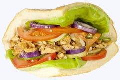 Сандвич Kebab на белой предпосылке стоковые изображения rf