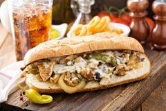 Сандвич melt цыпленка Стоковая Фотография