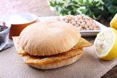 сандвич panelle Стоковая Фотография