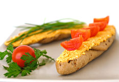 сандвич paprikash curd сыра Стоковое Изображение RF