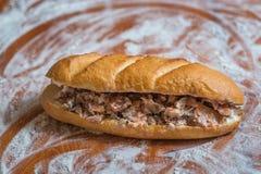 Сандвич Shawarma в багете Стоковое Изображение RF