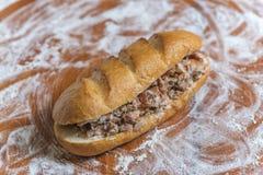 Сандвич Shawarma в багете Стоковое фото RF