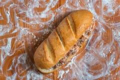 Сандвич Shawarma в багете Стоковые Фото