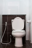 санитарные изделия туалета белые Стоковое Изображение RF